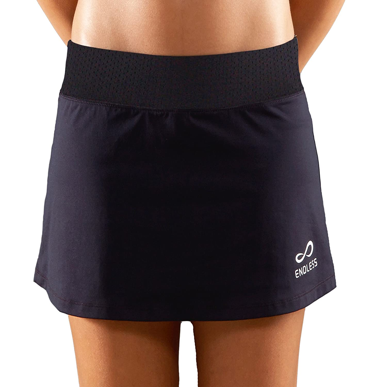 Endless Minimal Falda de Tenis, Mujer, Negro, M: Amazon.es: Ropa y ...