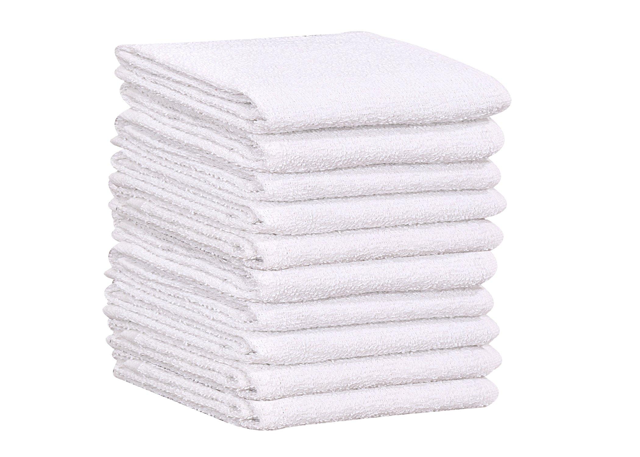 60 PC New 100% Cotton White Restaurant Bar Mops Kitchen Towels 28oz (5 DOZEN ) (60, White)