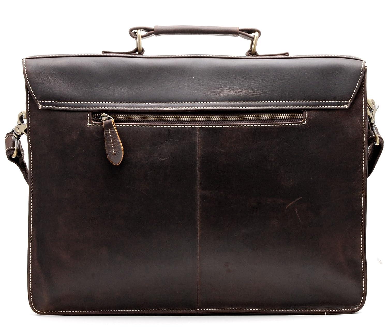 b9ac831d43b08 Aktenkoffer   -taschen Büro   Schreibwaren Bovari Herren Echt Leder Vintage  Aktentasche Laptoptasche V4 braun 13-15 Zoll
