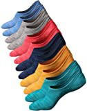 Womens Mens No Show Sock Anti-slid Low Cut Cotton Socks Fit All Seasons 5-6 pack