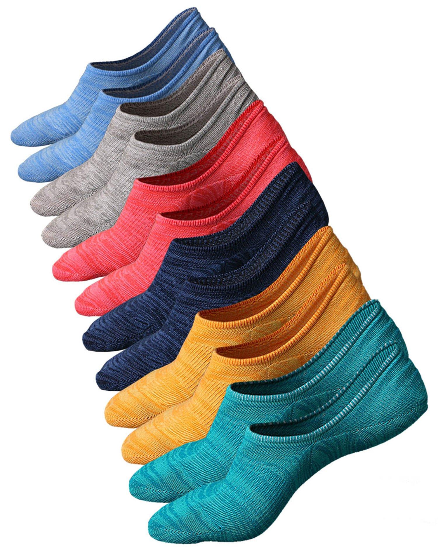 Women's Cotton Low Cut No Show Casual Ankle Socks Anti-Slip