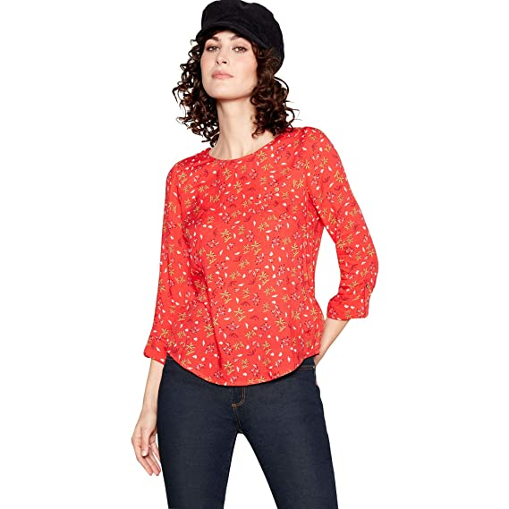 b94848d055b Mantaray Womens Red Ditsy Print Top  Mantaray  Amazon.co.uk  Clothing