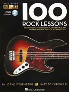 Bass Lesson Goldmine: 100 Rock Lessons (Book/Online Audio)