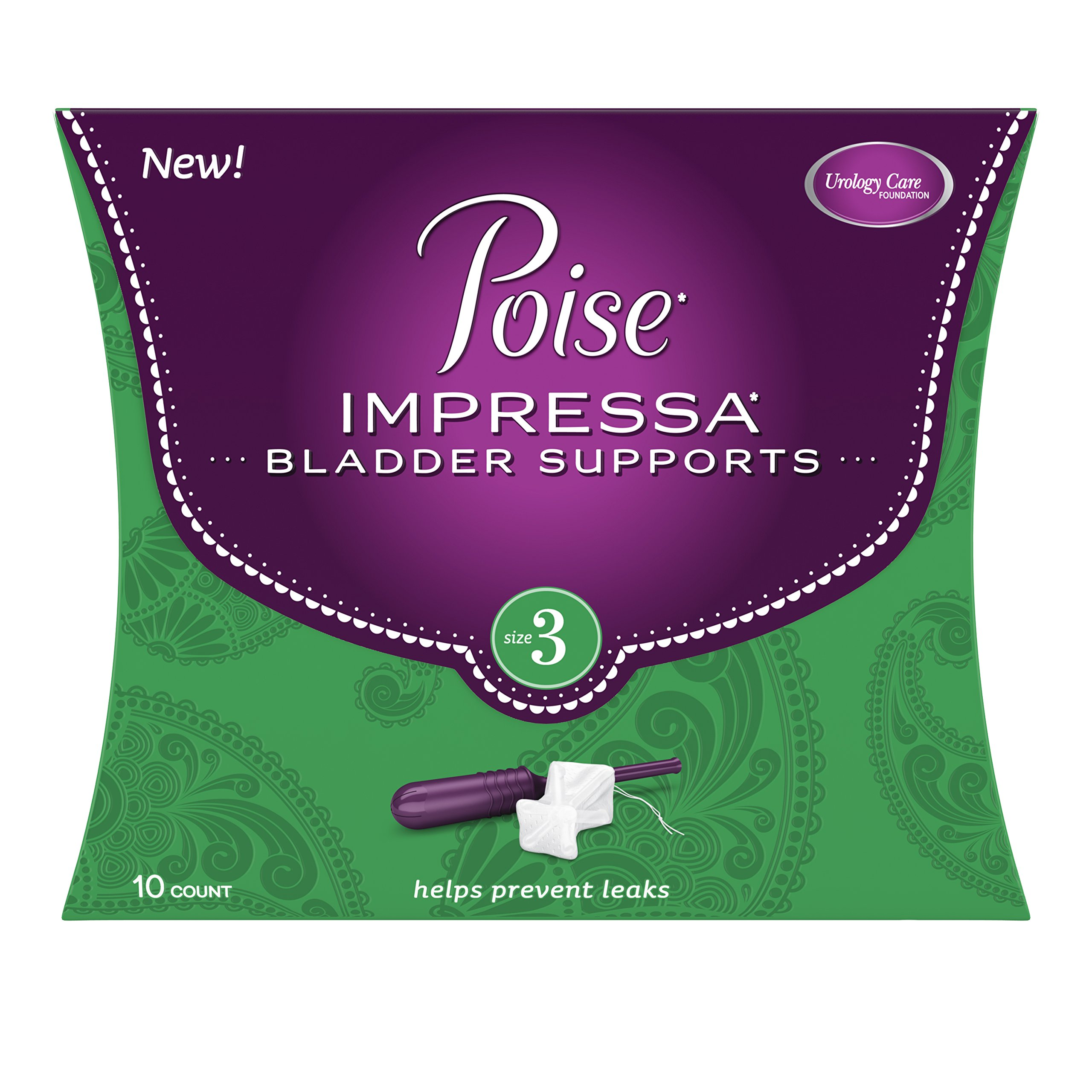 Poise Impressa Incontinence Bladder Supports Size 3, 10 Count