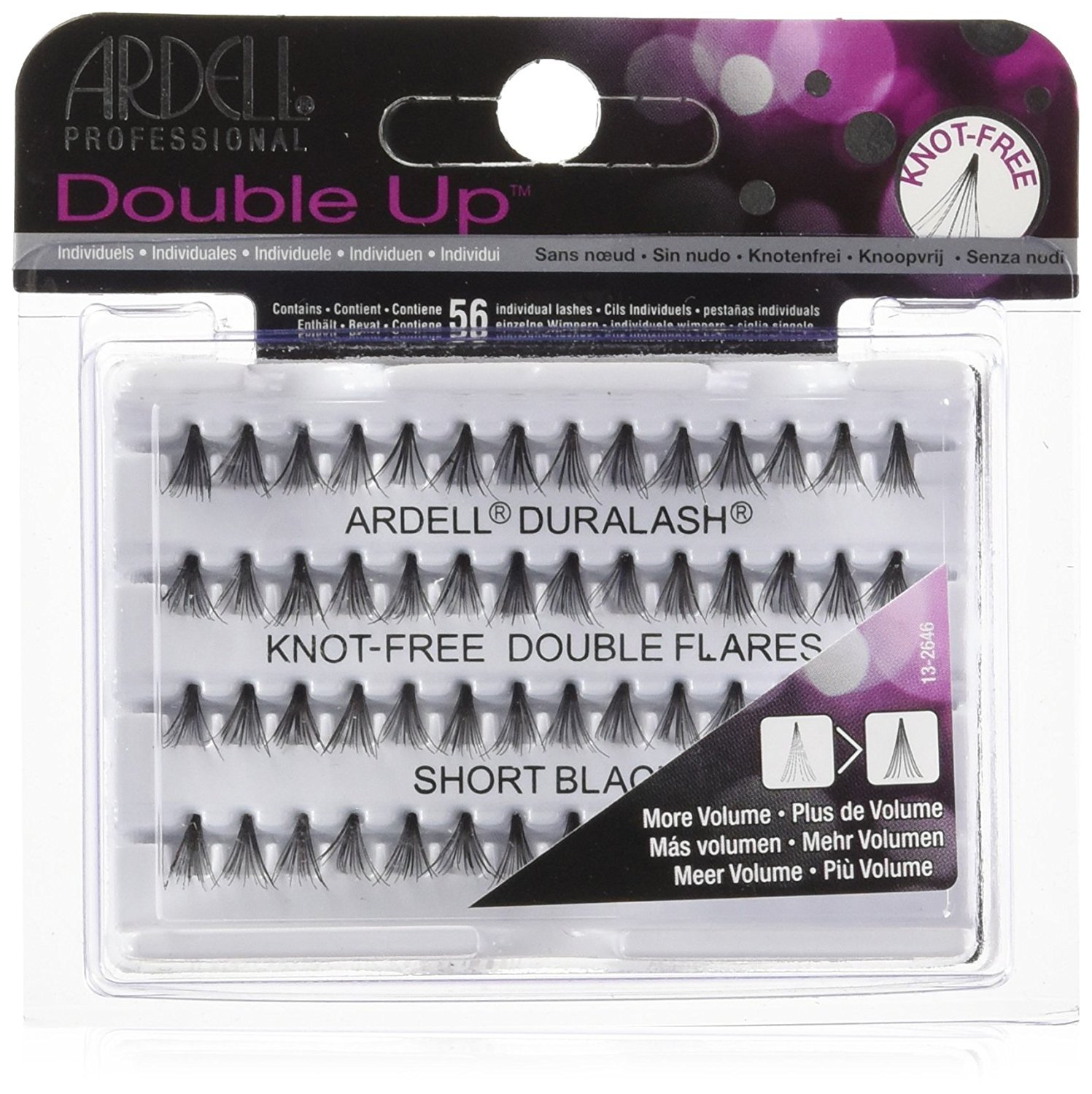 Ardell Double Individuals Knot Free Double Flares Black Short (2 Pack)