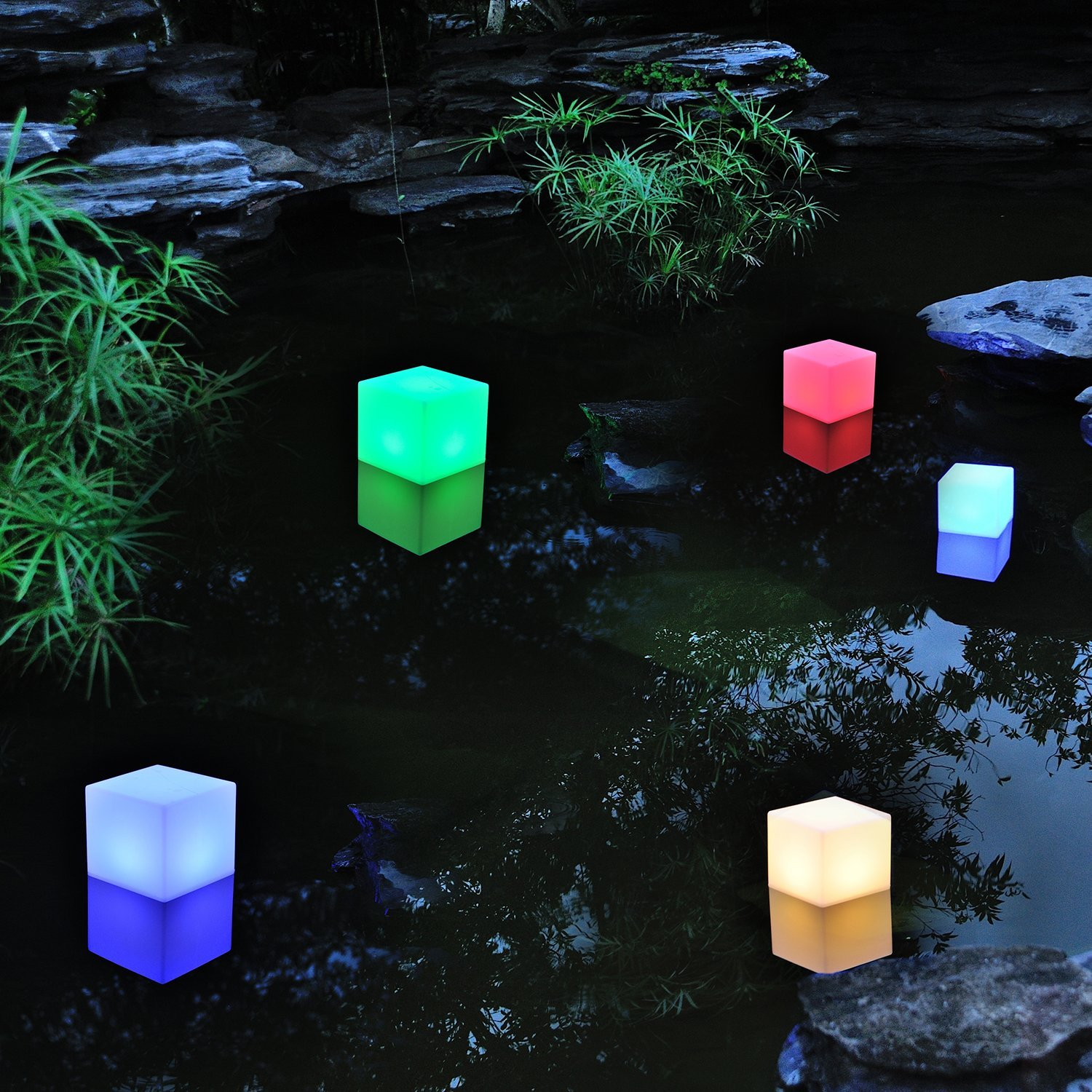 Floating pool lights on pinterest solar pool lights backyard pool - Amazon Com Aoske 8 Inch Floating Led Pool Glow Light Cube Outdoor Living Garden Light Decor Waterproof Color Changing Cube Patio Lawn Garden