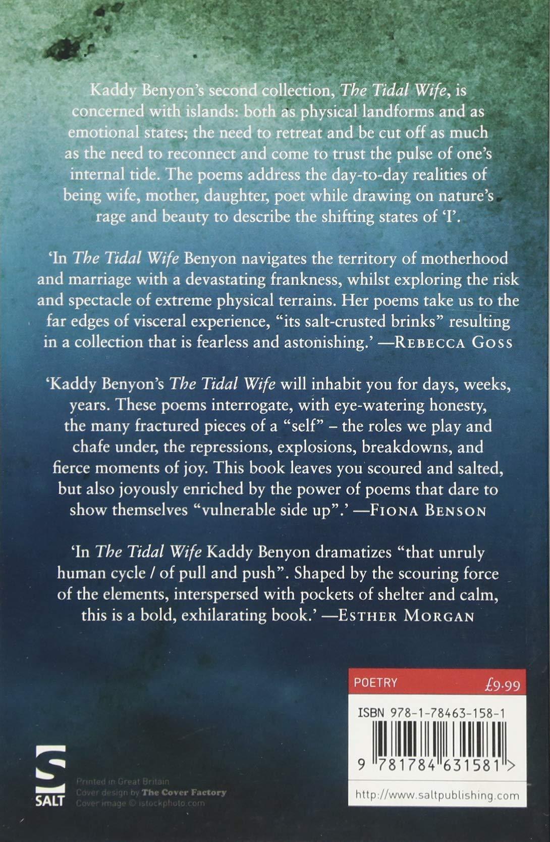 The Tidal Wife Salt Modern Poets Amazoncouk Kaddy Benyon