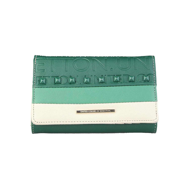 BENETTON cartera mujer 22A73884 verde - mujer - TU: Amazon ...