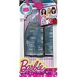 Barbie Fashion Denim Zip Front Skirt, Multi Color