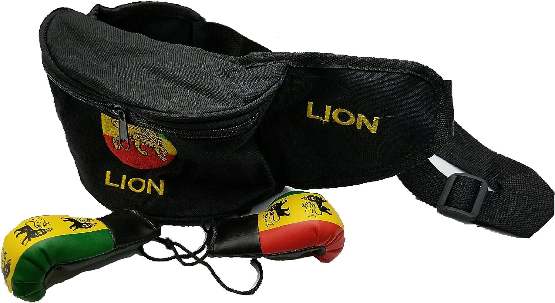 Rasta Lion Of Judah Sport Waist Pack Fanny Pack Adjustable For Travel