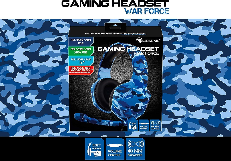 Subsonic - Auricular para juegos War Force para PS4 / Xbox one/ PC / Switch (sólo Fortnite) - Accesorios para gamers (Xbox One): Amazon.es: Videojuegos