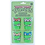 Silver Buffalo NT038SG1 Nickelodeon TMNT Growl Face Plastic Mini Glasses, 4-Pack