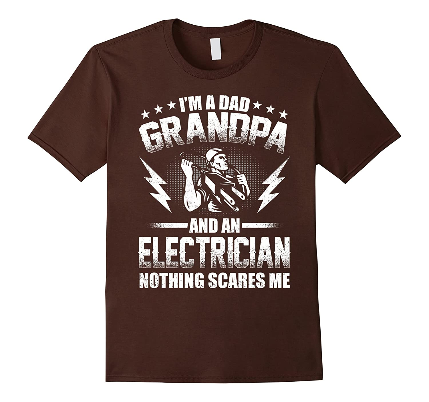 I'm A Dad Grandpa T-Shirt Electrician Father's Day-Yolotee