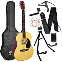 3rd Avenue Acoustic Guitar Premium Beginner Starter Pack - Natural