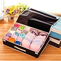 House of Quirk Innerwear Organizer 15+1 Compartment Non-Smell Non Woven Foldable Fabric Storage Box for Closet