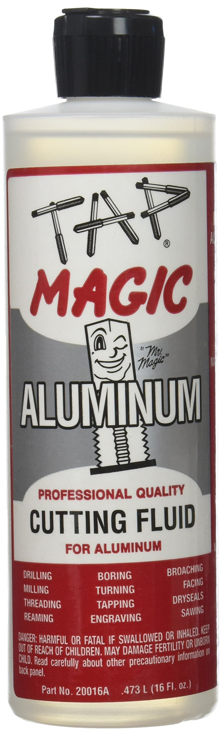 Tap Magic 20016A Aluminum Fluid with Spout Top, 16 oz, Light Yellow (Pack of 1)