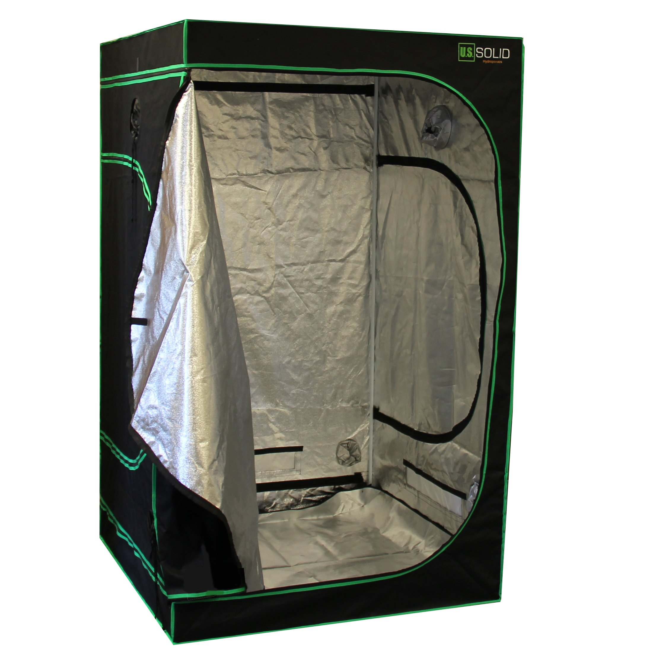 """U.S. Solid Grow Tent- 48""""x48""""x80"""" Hydroponic Grow Room Tent with High Strength Mylar Lined Fabric and a Strong Zipper, Keeps Odors from Getting Out and Pests from Getting in, a Product"""