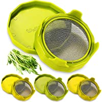 Sprouting Lids with Stand for Wide Mouth Mason Jars 4 Pack