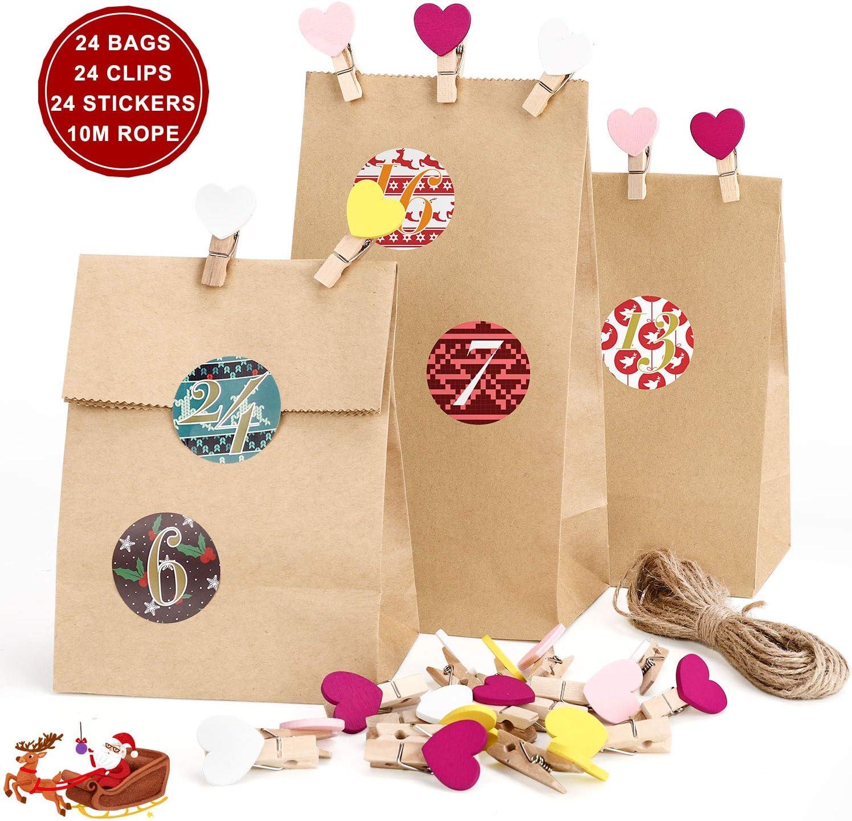 per Natale robusti vendita al dettaglio con maniglie Sacchetti regalo in carta kraft shopping 12 pezzi marrone feste per bottiglie di vino