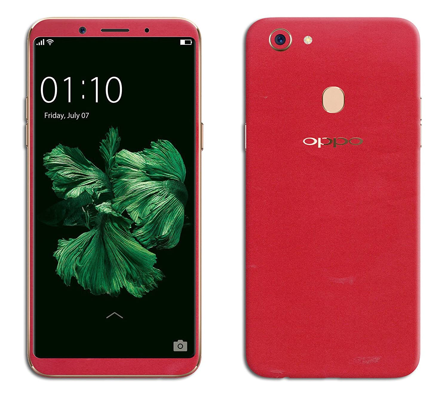 GADGETS WRAP Oppo F5 Red Matte Skin for Front & Amazon Electronics