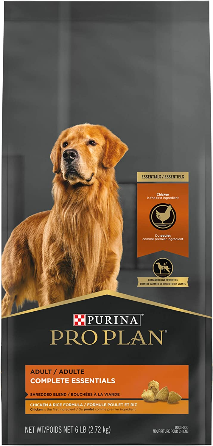 Purina Pro Plan With Probiotics Shredded Blend High Protein, Adult Dry Dog Food Chicken & Rice (Packaging May Vary)
