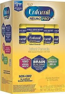 Enfamil NeuroPro Baby Formula Milk Powder, 14 Single Serve Packets (17.6 Gram Each) - MFGM, Omega 3 DHA, Probiotics, Iron & Immune Support