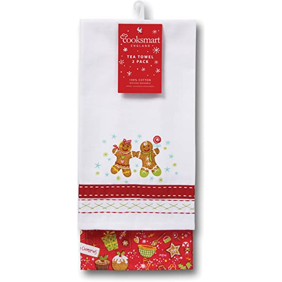 Gingerbread Christmas Tea Towel