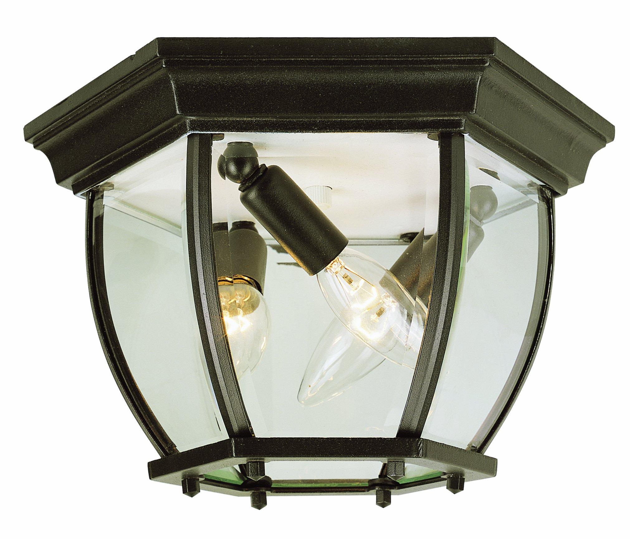 Trans Globe Lighting 4906 WH Outdoor Angelus 6.5'' Flushmount Lantern, White