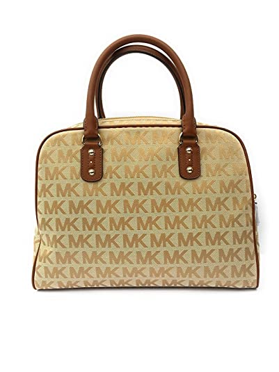 59ada21db2 MICHAEL Michael Kors MK Signature Large Satchel Bag