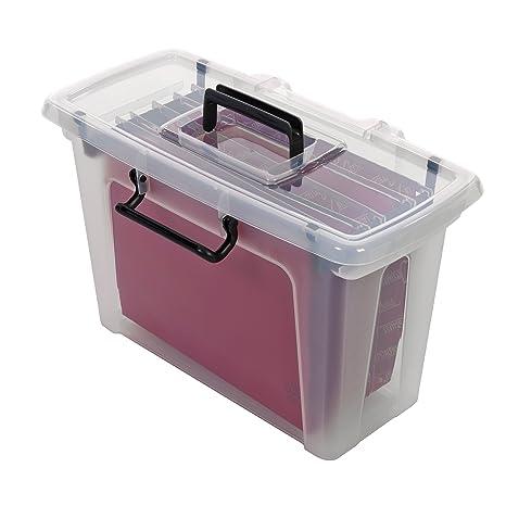 Strata HW697- Caja de almacenaje con 5 archivadores