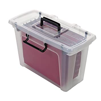 Strata HW697- Caja de almacenaje con 5 archivadores: Amazon.es: Oficina y papelería