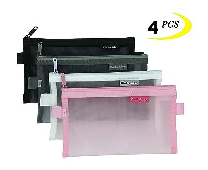 7828978fd749 Zipper Pouch, 4 PCS, Mesh Zipper Bags Clear Zipper Pouch Small Organizer  Bag Zipper Folder Bag Cosmetic Bags Travel Storage Bags, Size: 7.8
