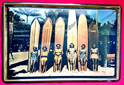 Tin Sign Cartel de Chapa 20 x 30 cm sufen Surf Hawaii ...