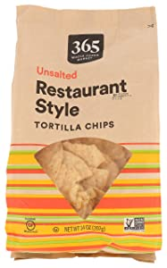 365 by Whole Foods Market, Tortilla Chips, Restaurant Style - Unsalted, 14 Ounce
