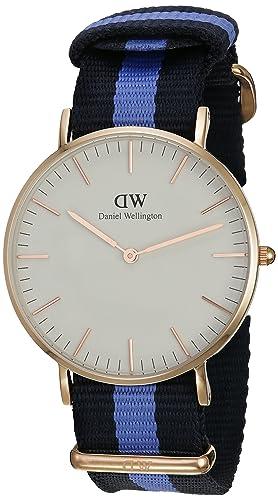 Daniel Wellington Reloj Análogo clásico para Mujer de Cuarzo con Correa en Nailon 0504DW: Daniel Wellington: Amazon.es: Relojes