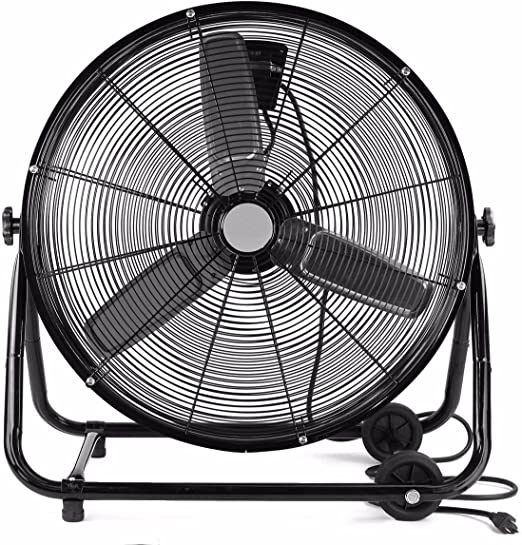 Heavy Duty Fan Industrial Rolling Drum Shop Basement Patio Floor Commercial