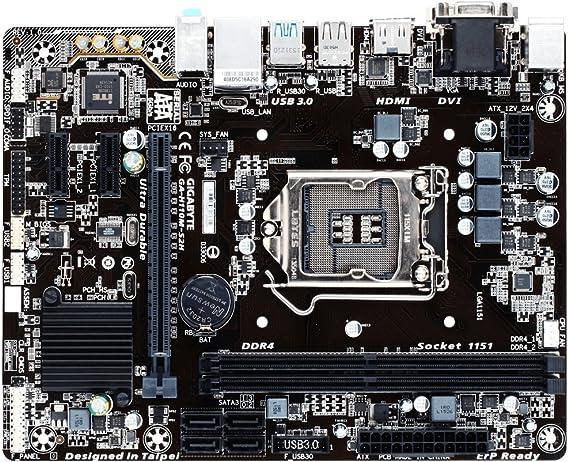 Gigabyte GA-H110M-S2H, Placa base (LGA 1151, DDR4 x 2, 2133 MHz ...
