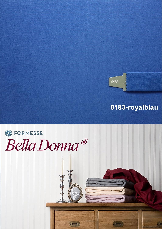 Bella Damenschuhe Jersey Spannbettlaken 120 200 - 130 220 Royalblau (0183)
