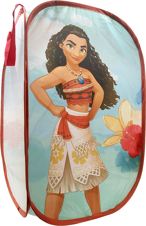 "Jay Franco Disney Moana Power Pop Up Hamper - Mesh Laundry Basket/Bag with Durable Handles, 22"" x 14"" (Official Disney Product)"