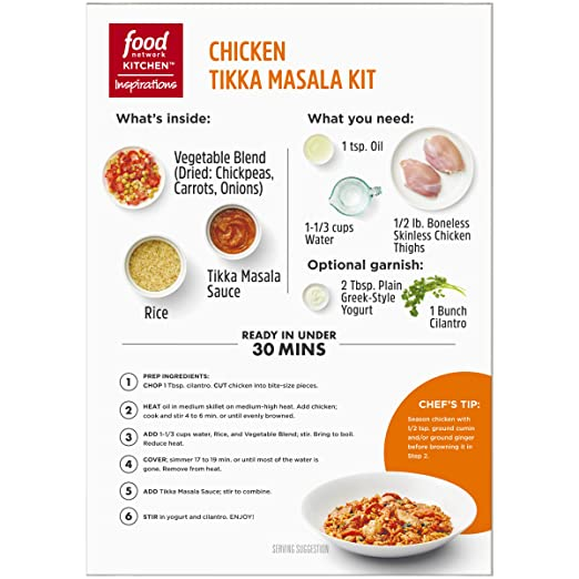 Amazon Food Network Kitchen Inspirations Chicken Tikka Masala