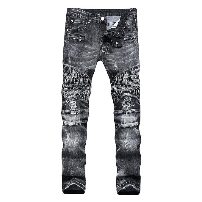 HDYS Los hombres vaqueros pantalones vaqueros de color claro ...