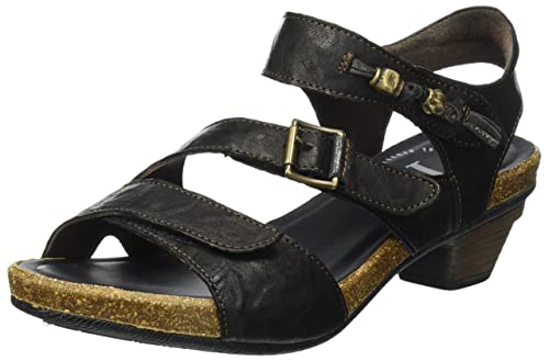 Womens Jomai Wedge Heels Sandals, Black Think