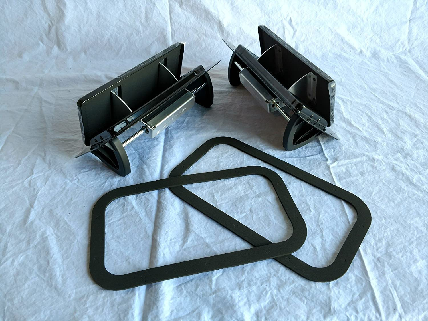 Kay 1 Pair Black Aluminum Popup Vent Horse Trailer Air Flow Low Profile Gasket ALP-BLK Kay Enterprises
