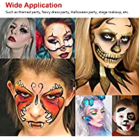 Professional Body Art Face Painting Kit Water Based Removable Body Paints 15 Colors Palette with 2 Paintbrushes and 4…