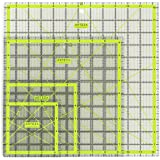 "Arteza Acrylic Quilters Ruler, Double-Colored Grid Lines (4.5""X4.5"", 6""X6"", 9.5""X9.5"", 12.5""X12.5"", Set of 4)"