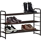 CAXXA 3-Tier Stackable and Expandable Metal Wire Utility Rack Storage For Shoe Household Accessory Organizer Shelf In Entrywa