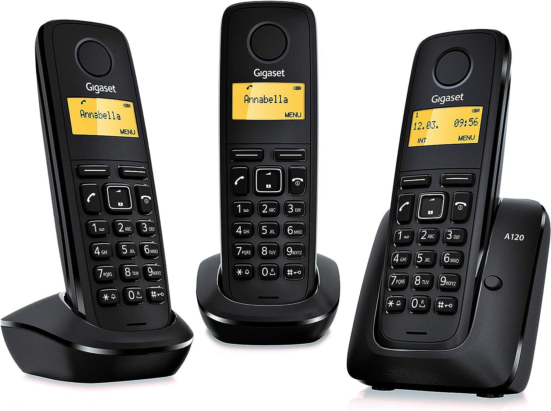 Gigaset A120 - Teléfono Inalámbrico, Agenda de 50 Contactos, Pantalla Iluminada, Color Rojo: SIEMENS: Amazon.es: Electrónica