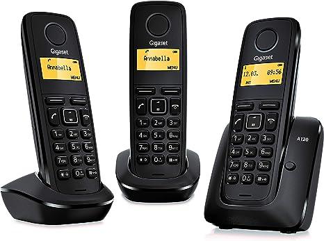 Gigaset A120 Trio - Teléfono inalámbrico, pack de tres unidades: SIEMENS: Amazon.es: Electrónica