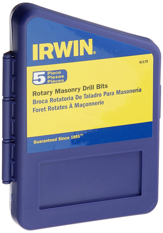 Irwin Tools 61170 Tungsten Carbide Masonry Drill Bit Set 5 Piece