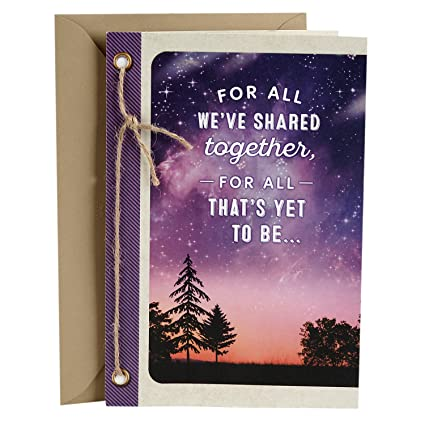 Amazon Hallmark Love Card You Mean The World To Me Romantic Anniversary Birthday Mothers Day Office Products
